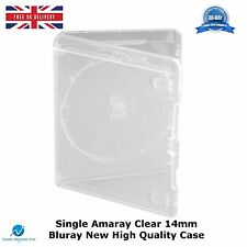 Single Clear Amaray 14mm Case Spine BLURAY High Quality Replacement Cover 1