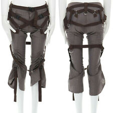 runway JUNYA WATANABE SS2003 Parachute brown bondage harness belt buckle pants S