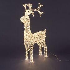 LOTTI RENNA LUMINOSA 3D 200 Led Luce Bianco Caldo Interno Esterno NATALE 90 cm