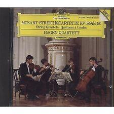 MOZART Streichquartette KV 589 590 HAGEN QUARTETT CD 1987 OTTIME CONDIZIONI (R)