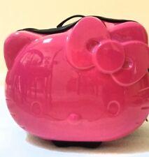 Hello Kitty travel on hard shell suitcase pink