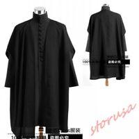 Dark Professor Severus Snape Cosplay Costumes Black Capes Jacket For Halloween