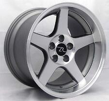 "17"" 03 SVT Mustang Cobra Deep Dish Style Wheels 17x9 17x10.5 5x114.3 Rims 94-04"