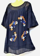 plus sz XL / 24 TS TAKING SHAPE Folkloric Top inbuilt cami soft light flowy NWT!