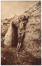 1920's Old Vintage Black African Kenyan Female Nude Model Photo Gravure Print