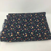 Vintage PETITE FLOWERS Cotton Fabric QUILTING Cottagecore Country Navy 4 Yards