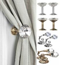 2Pcs Crystal Curtain Holdbacks Wall Tie Backs Hooks Hanger Holder Home IB UK