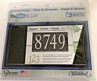 """NEW Whitehall DeSign-it Lite Die Cast Metal 11.25"""" x 7.25"""" Black Address Plaque"""