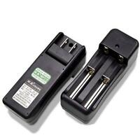 Universal Dual Battery Charger F 18650 16340 26650 Rechargeable Li-ion US Plug R