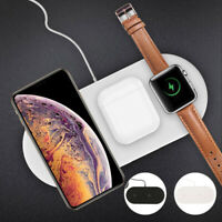 3 in1 Qi Wireless Charger Pad Fast Charging For Airpods iWatch iPhone 11 XS X