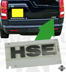 Brunel Grey HSE Lettering for Disco 3+4 Badge rear door tailgate letter genuine