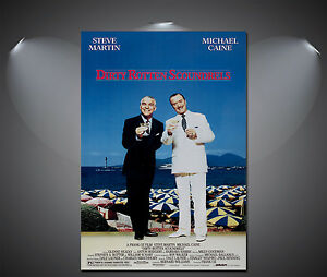 Dirty Rotten Scoundrels Vintage Movie Poster - A1, A2, A3, A4 Sizes