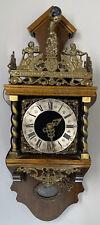 Vintage Warmink Wuba Zandamm Wall Clock Shelf Mantel Large Version Dutch