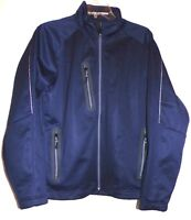 ZERO RESTRICTION MENS ( NEW ) HIGHLAND SOFT SHELL JACKET IN BLUE SIZE-SMALL