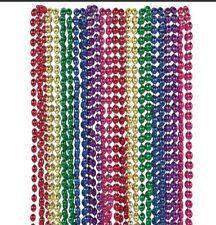 24 X Rainbow Bead Necklaces Party Bag Fillers Fancy Dress 80's # Festival