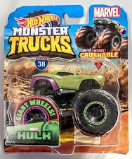 2019 HOT WHEELS 1/64 MONSTER TRUCKS MARVEL HULK MONSTER TRUCK 36/50