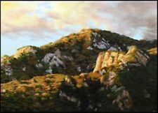 """Bradley Elsberry """"Untitled""""mountain 9x12 Oil on canvas Hand Signed Make an Offer"""