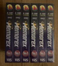 6x Memorex Super High Quality E180 Blank VHS Video Cassette **New Sealed**