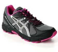 Oasics GLS Women Pink Black Laces Mesh Running Shoes 9.5    T28BQ