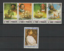 1982 St Tome et Principe 5 timbres oblitérés / T1393