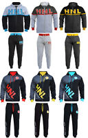 BOYS GIRLS TRACKSUIT CHILDRENS HOODED TOP JOGGING BOTTOMS KIDS JOGGING SUITS