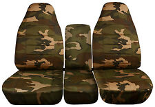 1999 to 2004 Dodge Ram 40-20-40 Army Seat Covers with Integrated Seat Belts