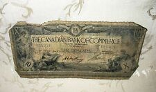RARE 1917 The Canadian Bank of Commerce Ten Dollar Bill, Ottawa Jan 2, #415326