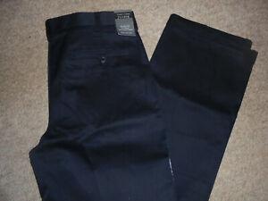 NWT JOS. A. BANK TRAVELER'S COLLECTION BLACK KHAKI CHINO PANTS SIZE 34 X 34