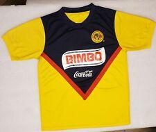 Ca Club America Bimbo Corona Yellow Blue Soccer Jersey Size M
