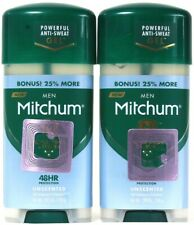 2 Mitchum 2.85 Oz Men Triple Odor Defense Unscented Antiperspirant Deodorant Gel