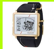 Wrist Watch EPSON Smart Canvas Mickey Minnie Lovelove Black W1DY10330 Japan