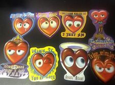 Valentines Day SWEET HEARTS Vending Machine Stickers Lot of 8 NEW Valentine