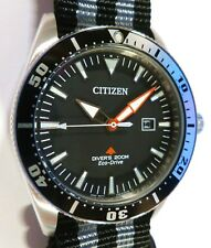 Citizen Promaster Eco-Drive Diver's 200m - EXCALIBUR BOND NATO SOLAR - NEW