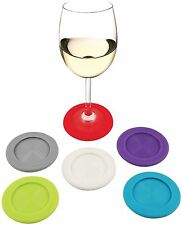 6PCS Silicone Wine Glass Marker pineapple Design Drink Charms Label Mark/_vp