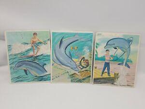 1967 3 Flipper Tray Puzzles Flipper Underwater Adventures Puzzles