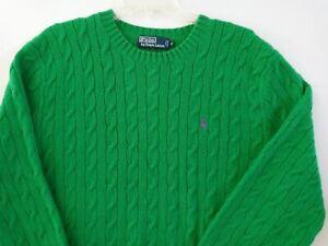 Polo Ralph Lauren Pony Men's Crew Neck Sleeve Navy Green Sweater ~ Size XL