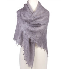 "50X50"" Gray Orenburg Shawl. Gossamer Goat Down Scarf. Authentic Russian Shawl"