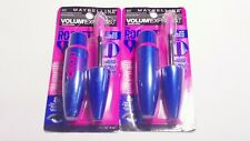 2 MAYBELLINE VOLUM EXPRESS THE ROCKET MASCARA 402 BROWNISH BLACK