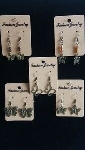 LADIES FASHION BUTTERFLY EARRINGS CHOICE OF 5  ANTIQUE BRONZE FINISH NEW BAGGED