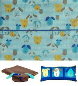 COLORMATE PUPPIES WOOF TWIN SHEETS  BLANKET THROWPILLOW 5PC BEDDING SET NEW