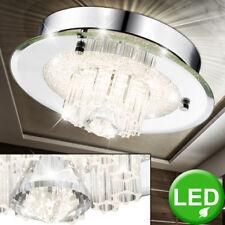 Cristal Lámpara de Techo Led Cromado Iluminación Salón Dormitorio Luz Vestíbulo