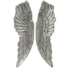 Angel Wings 104cm Wall Hanging Antique Style Silver Left Right.Impressive.