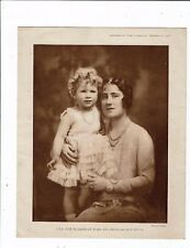 """PRINTS ROYALTY AN APPROX 9.5""""X7.5"""" SEPIA PRINT  T.R H. THE DUCHESS OF YORK AND P"""