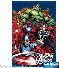 Coperta Pile Plaid Marvel Avengers Capitan America Iron man Hulk Thor 100x150cm