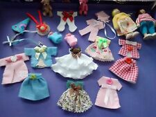 Dolls House Job Lot Clothes Twin Baby's Teddy's .Used.Excellent Condition New