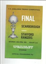 Stafford Rangers Home Teams S-Z Football Non-League Fixture Programmes