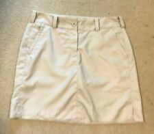 Nike Golf Skort Skirt Shorts Size Sz 6 Tour Performance Dri-Fit Tan Khakis