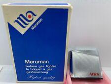 New listing JAPAN MARUMAN TOKYO GAS BUTANE PIEZO-ELECTRIC Pocket LIGHTER AIWA AD.ORIGINL BOX