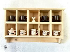 m1 Handcrafted Cabinet With Hooks | Kitchen's Pastry's Wall Shelving Unit |