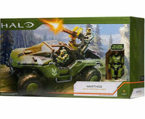 HALO Infinite World of Halo Warthog with Master Chief Figure Plus Deluxe Vehicle